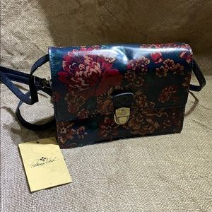 New Patricia Nash leather floral bag with tags.